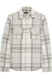 A.P.C. Atelier de Production et de Création Plaid wool-blend flannel shirt