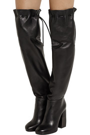 Lanvin Drawstring leather over-the-knee boots