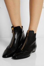 Tod's Glossed-leather ankle boots