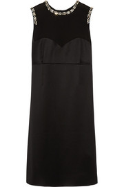 Mulberry Crystal-embellished silk-satin dress