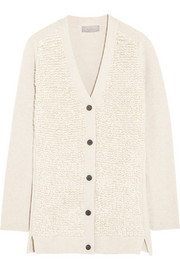 Mulberry Wool, cashmere and silk-blend cardigan