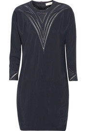 IRO Cadonia embroidered crepe mini dress
