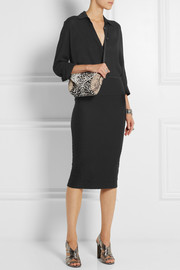 IRO Kaya textured stretch-jersey skirt