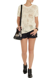 IRO Nasta distressed cotton-blend terry top