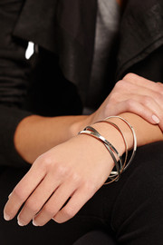 Inez and Vinoodh Oxidized and sterling silver interlinked bangles