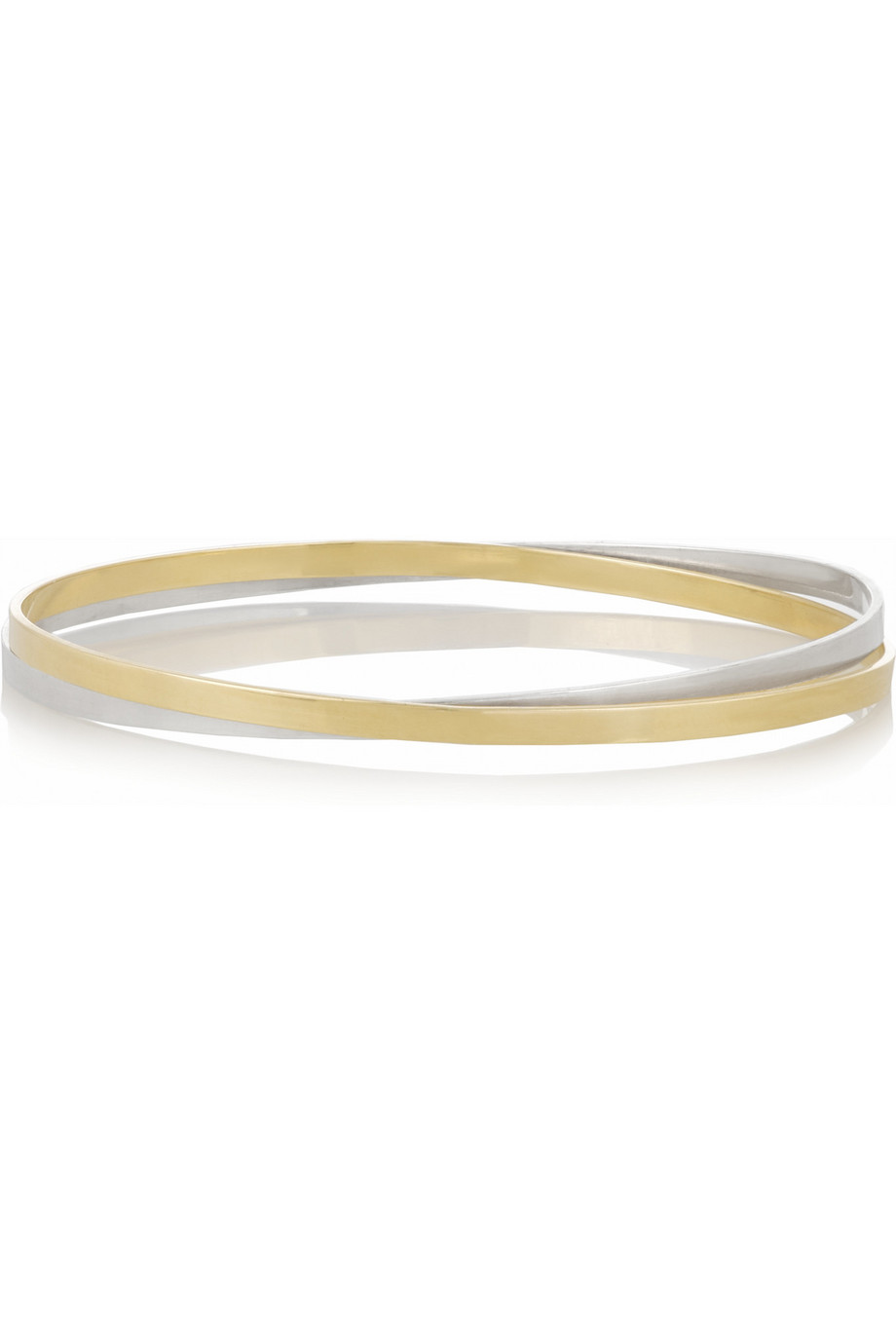 18-Karat Gold and Sterling Silver Interlinked Bangles, Inez and Vinoodh, Women's