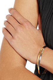 Inez and Vinoodh 18-karat gold and sterling silver interlinked bangles