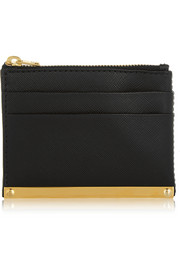 Sophie Hulme Textured-leather cardholder