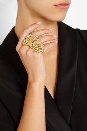 Ana Khouri Maria 18-karat gold two-finger ring