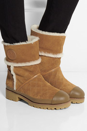 Tory Burch Boughton shearling-lined suede boots