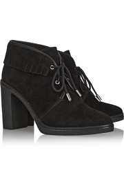 Tory Burch Hilary fringed suede ankle boots