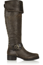 Tory Burch Tarulli distressed leather over-the-knee boots