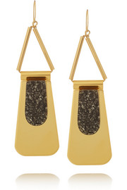 Marni Gold-plated pyrite earrings