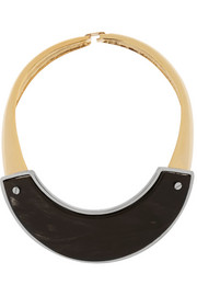 Marni Gold-plated horn necklace