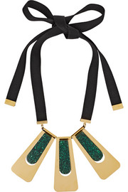 Marni Gold-plated resin necklace