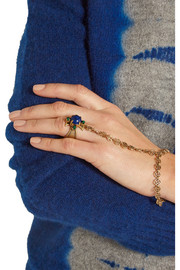 Tory Burch Gold-tone resin finger bracelet