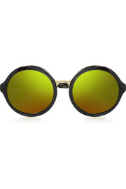 3.1 Phillip Lim Round-frame acetate mirrored sunglasses