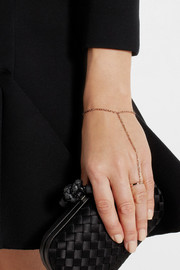 Jennifer Fisher Rose gold-plated finger bracelet