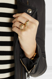 Jennifer Fisher Handcuff gold-plated double ring