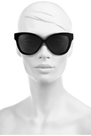 Linda Farrow Cat eye acetate and elaphe sunglasses
