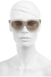 Linda Farrow D-frame acetate and elaphe sunglasses