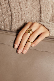 Jennifer Fisher Zig Zag gold-plated phalanx ring