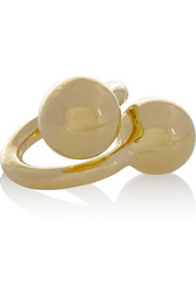 Jennifer Fisher Double Ball gold-plated ring