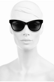 The Row Cat eye leather-trimmed acetate sunglasses