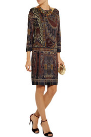 Etro Paisley-print stretch-crepe dress