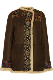 Etro Embellished shearling jacket