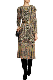 Etro Printed wool-crepe dress
