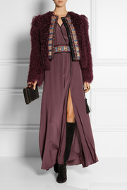 Etro Embroidered wool-blend and shearling jacket