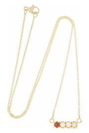 Cool 18-karat gold multi-stone necklace