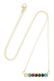 Lulu Frost CODE Dearest 18-karat gold multi-stone necklace