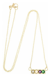 Lulu Frost CODE Love 18-karat gold multi-stone necklace