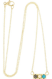 Lulu Frost CODE Hot 18-karat gold multi-stone necklace