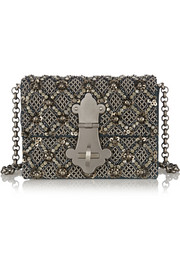 Dolce & Gabbana Lucrezia embellished ayers and silk shoulder bag