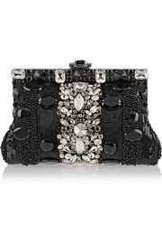 Dolce & Gabbana Vanda small embellished satin clutch