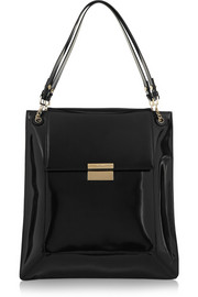 Christy polished-leather tote