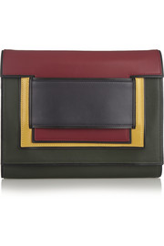 Pierre Hardy Color-block leather clutch