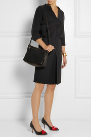 Clare V Gosee leather and suede shoulder bag