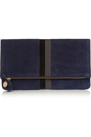Clare V Margot suede clutch