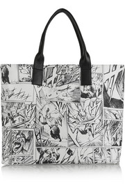 McQ Alexander McQueen Printed leather tote