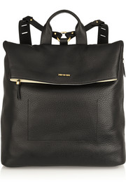 McQ Alexander McQueen Knapsack textured-leather backpack