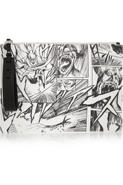 McQ Alexander McQueen Manga printed leather clutch