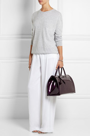 Jil Sander Large patent-leather tote