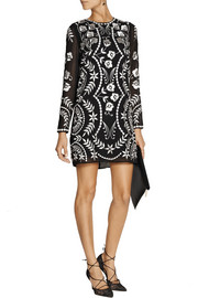 Needle & Thread Embroidered georgette mini dress