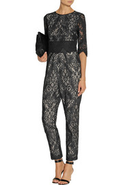 SEA Cotton-blend lace jumpsuit