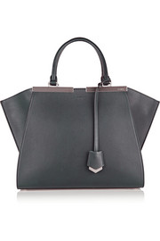 Fendi 2Jours mini textured-leather shopper