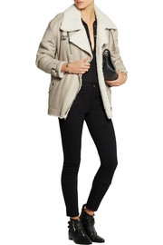 Burberry Brit Oversized shearling aviator jacket
